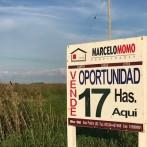 17 has agrícolas en La Violeta s/asfalto u$s 10.500.- x ha.